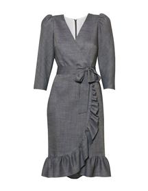 Fantazyjna sukienka z wełny