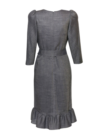 Fantazyjna sukienka z wełny  (2)