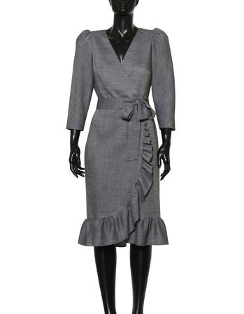 Fantazyjna sukienka z wełny  (6)