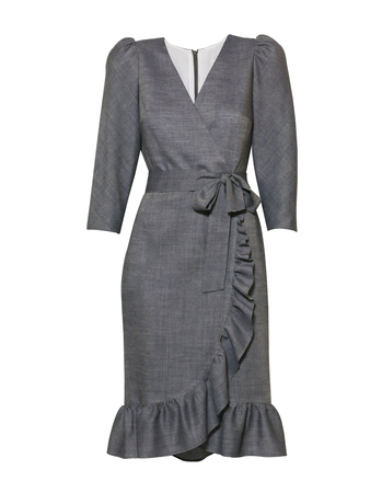 Fantazyjna sukienka z wełny  (4)