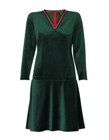 Sukienka z aksamitu- zielona