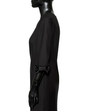Czarna z wełny z kokardami z jedwabiu (6)