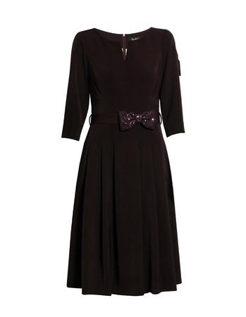 Sukienka z zakładkami - bakłazanowa (3)
