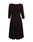 Sukienka z zakładkami - bakłazanowa (4)