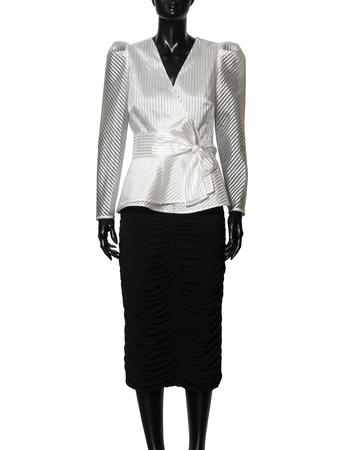 Wizytowa fantazyjna biała bluzka  (6)