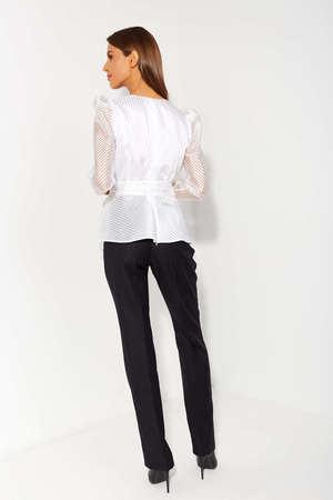 Wizytowa fantazyjna biała bluzka  (3)