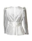 Wizytowa fantazyjna biała bluzka  (5)