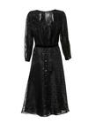 Czarna lekka midi z przeźroczystej tkaniny w błyszczące koła (4)